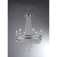 Crystal Pendant Lamp  This is a lot simpler, but I like it