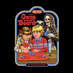 My First Ouija Board Canvas Art Print by Steven Rhodes Ouija, Just Kids, Arte Punk, Mode Poster, Satanic Art, Bizarre Art, Retro Illustration, Vintage Horror, Retro Art