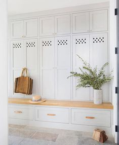 "2,265 Likes, 18 Comments - Style Me Pretty Living (@smpliving) on Instagram: ""A mudroom that pulls double duty (storage and seating) is a win! 