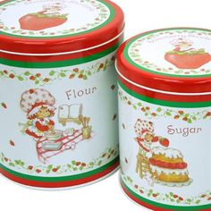 charlotte aux fraises, Strawberry Shortcake canisters