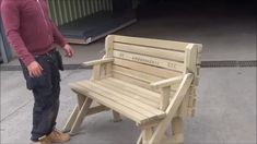An all new style Bench Grab 100 FREE Plans Now & diy furniture plans, Woodworking Furniture Plans, Woodworking Projects That Sell, Woodworking Wood, Woodworking Magazine, Woodworking Classes, Router Wood, Youtube Woodworking, Woodworking Equipment, Wood Crafts