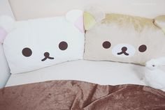 Rilakkuma Pillows!! Now i have a reason to stay in bed