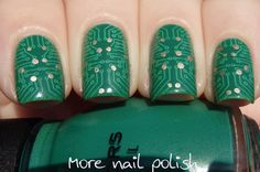 Circuit board nail art - More Nail Polish  Bundle Monster plate BM415.