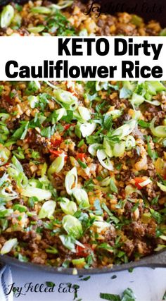 This Dirty Cauliflower Rice recipe is a keto spin on the classic Creole dish. Simple, quick, easy and so delicious, this Beef Recipes, Low Carb Recipes, Healthy Recipes, Ramen Recipes, Cabbage Recipes, Spinach Recipes, Noodle Recipes, Fudge Recipes, Turkey Recipes