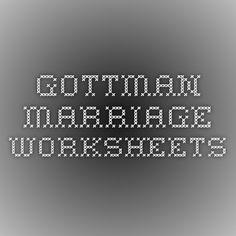 Gottman Marriage Worksheets
