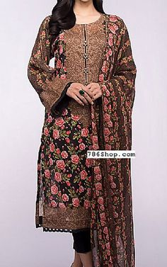 Black Lawn Suit | Buy Bareeze Pakistani Dresses and Clothing online in USA, UK