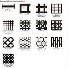 Perforated metal options for cabinet door face @Krista McNamara McNamara McNamara Nye Schwartz