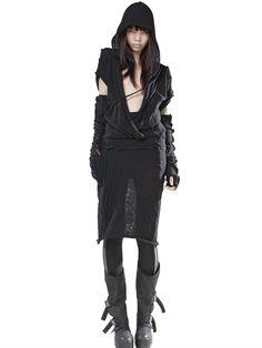 DEMOBAZA DEEP V NECK WOOL KNIT DRESS - http://lustfab.com/shop-lust/demobaza-deep-v-neck-wool-knit-dress/