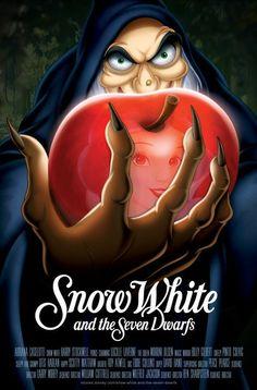 Snow White and the Seven Dwarfs movie poster Disney Movie Posters & Artwork Walt Disney, Disney Love, Disney Magic, Disney Art, Film D'animation, Film Serie, Animation Disney, Disney Movie Posters, Film Posters
