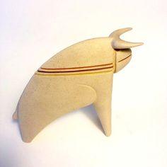 Modernist bull from Chiminazzo iitalian Art pottery by LikeMeTwice