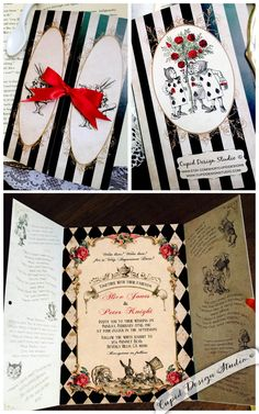 New to CupidDesigns on Etsy: Elegant Alice in Wonderland invitation. Mad Hatter tea party invitation. Alice Sweet sixteen invitations wonderland Bridal invitation. (0.50 USD)