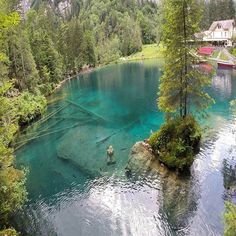 Blausee Nature Park, Switzerland. #aroundtheworldpix Photography by @switzerland.vacations