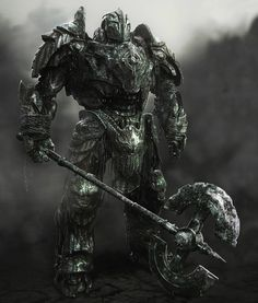 """More Transformers: The Last Knight Concept Art, """"Guardian Knight"""", by Furio Tedeschi Transformers 5, Transformers Collection, Transformers Masterpiece, Transformers Characters, Robot Concept Art, Armor Concept, Beast Creature, Last Knights, Spaceship Art"""