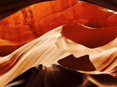 Antelope Canyon (Lower and Upper) is a Bucket List worthy hike. The slot canyon has been carved by water over the years. Rain from 40 miles away will cause flash floods that fill this canyon to the brim! Make sure to tip your Native Guide. They can show you how to get the most amazing pictures like this, the Indian Chief, The Bear, The Heart. Even if you miss catching these with the naked eye, Antelope is natures cathedral. http://lowerantelope.com/