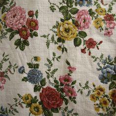 Ashby vintage cotton barkcloth from Folly&Glee