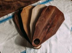 Geometric Cutting Board / Cheese Board  Walnut