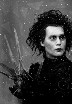 Edward Scissorhands- when i first say this movie i thouhgt it was creepy lol