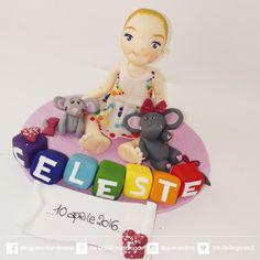 ...ele-ganza...  birthday clay cake topper  #caketopper #compleanno  #toppercake #topcake #sopratorta #birthdayparty #festacompleanno #cakedecoration #modelling #clay #fondant #cakefigurine