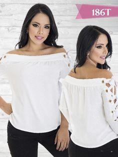 Blusa Moda Tabbachi Blanco - Ref. 236 -186 Blanco