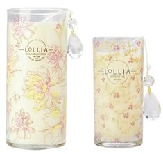 "Lollia Candle in ""Milk Blossom"" and ""Breathe"" {pretty and love the scnet}"