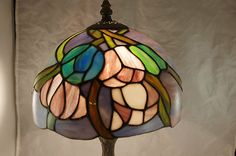 $20 plus 15 Vintage Stained Glass Table Lamp | eBay