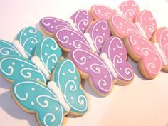 Butterfly cookies. Make on a stick like a wand for favors.