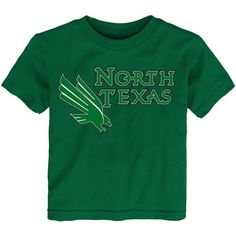 Gen2 Toddlers' University of North Texas Primary Logo Short Sleeve T-shirt (Green, Size 4 Toddler) - NCAA Licensed Product, NCAA Youth Apparel at A...