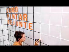 COMO PINTAR REJUNTE - YouTube Cinema, Youtube, Home Decor, Bathroom, House, Rental Makeover, Modern Bathrooms, Encaustic Tile, Board And Batten Siding