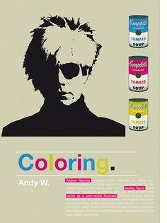 Andy Wahrol / Coloring project by Rétrofuturs (Hulk4598) / Stéphane Massa-Bidal, via Flickr