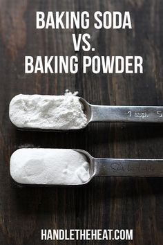 Become a BETTER BAKER by learning the surprising differnces between baking soda vs. Become a BETTER BAKER by learning the surprising differnces between baking soda vs. Baking Basics, Baking Tips, Baking Recipes, Baking Hacks, Baking Substitutions, Baking Secrets, Baking Videos, Food Science, Baking Science