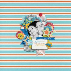 Everyday Life: It's A Boy Thing   Collection by Tickled Pink Studio and Designs by Megan Turnidge and Watering Hole March Template Tuesday by Little Green Frog Designs Layout by mrsashbaugh