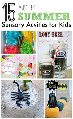 15 Must Try Summer Sensory Activities for Kids | Sensory Doughs, Sensory Bins, and Messy Art SO MANY GREAT IDEAS!