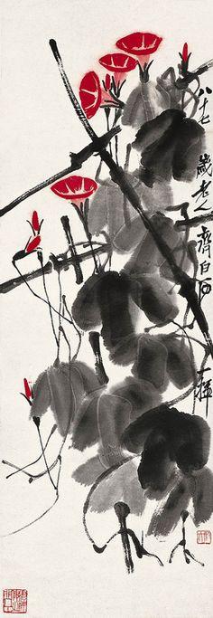 yama-bato:  Qi Baishi Morning Glory via