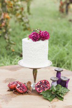 A sweet cake for an intimate wedding: http://www.stylemepretty.com/australia-weddings/western-australia-au/2015/07/14/glamorous-romantic-wedding-inspiration/ | Photography: Anthea Auld - http://www.antheaauldphotographer.com.au/