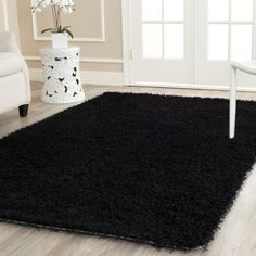 Monterey Shag Black 2 ft. 6 in. x 4 ft. Area Rug