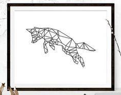 Items similar to Geometric Fox, Steel Geometric Fox, Fox Wall Art, Metal Fox, Steel Art, Steel Fox on Etsy