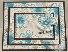 Christine's Stamping Spot; triple step stamping; card; stampin' up!; stampin' up; stampin up; su; stampin up only; flower shop