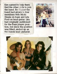 The Runaways : Joan Jett : Cherie Currie : Lita Ford : Sandy West : Jackie Fox Susanna Hoffs, Sandy West, Female Drummer, Cherie Currie, Lita Ford, Joan Jett, Rock Groups, Running Away, Fox