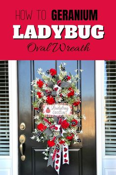Ladybugs are very trendy this summer and are even known to bring a little good luck your way! This faux flower ladybug summer geranium wreath will look amazing on your front door this summer. Learn how to make your own following this step by step tutorial! Diy Home Decor Projects, Decor Ideas, Wreath Forms, Trendy Tree, Faux Flowers, Summer Wreath, How To Make Wreaths, Geraniums, Seasonal Decor