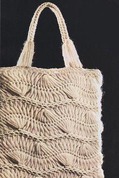 Hairpin Crochet Tote Bag
