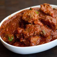 Rogan Josh (Kashmiri Lamb Curry) from The Domestic Man (holy delicious. Lamb Recipes, Spicy Recipes, Curry Recipes, Indian Food Recipes, Asian Recipes, Cooking Recipes, Indian Foods, Vindaloo, Lamb Dishes