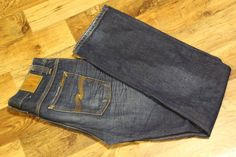 NUDIE AVERAGE JOE NJ2668 WORN RINSED 100% ORGANIC COTTON BLUE JEANS W33 L34  #Nudie #ClassicFitStraight Average Joe, Vintage Jeans, Blue Jeans, Organic Cotton, Classic, Fitness, Pants, Clothes, Fashion