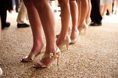 cute neutral bridesmaids' shoes