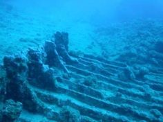 Sunken planes and ships in the Bermuda Triangle which fall into the Puerto Rico Trench, which reaches depths of about 30,100 feet (9,200 meters) and is the deepest part of the Atlantic Ocean are rarely  found. This unidentified Caribbean shipwreck was discovered by NOAA in 2011.
