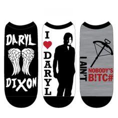 Walking Dead Daryl Dixon Low Cut 3 Pairs Of Socks - Radar Toys