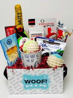 Custom made for a house warming to include the dog🐶 Themed Gift Baskets, Corporate Gifts, Customized Gifts, House Warming, Dog, Personalized Gifts, Diy Dog, Promotional Giveaways, Doggies