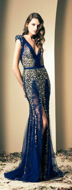 Fall-Winter Haute Couture Collection 2013-2014(24) ZIAD NAKAD_解思思 - 美丽鸟