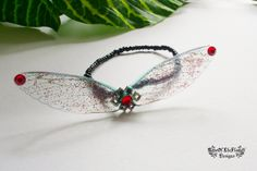 Fairy bracelet jewelry. Dream fantasy bracelet jewelry. Fairy wing bracelet jewelry. Colourful colorful glitter bracelet jewelry. - pinned by pin4etsy.com