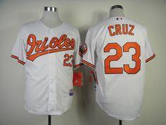 MLB baltimore orioles 23 Cruz in white jersey