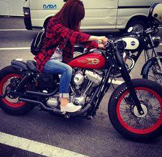 She rides a Dyna